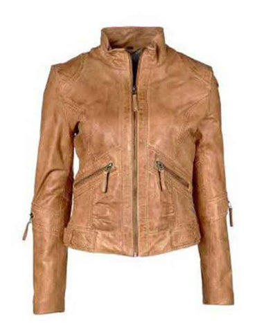 Super Brown Women Classic Leather Jackets - Get Custom Leather Jackets