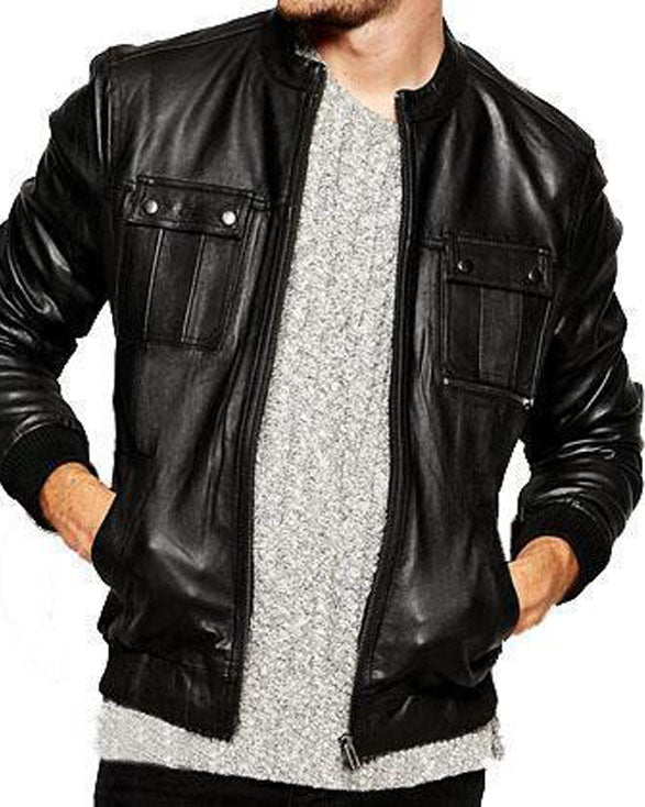 Super Spinner Men Bomber Leather Jackets - Get Custom Leather Jackets