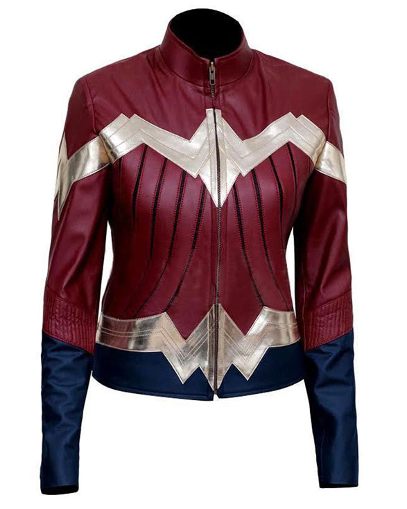 Wonder Woman Iconic Costume Jacket - Get Custom Leather Jackets