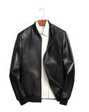 Classic Bomber Style Men's Leather Jacket - Get Custom Leather Jackets