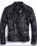 Soft Sheepskin Genuine Leather Jackets for Men - Get Custom Leather Jackets
