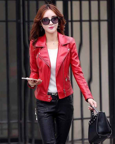 Pinky is Black Women Leather Jacket - Get Custom Leather Jackets