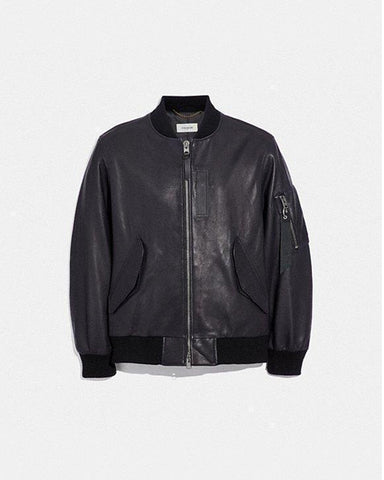 Pure Leather ma-1 jacket for Men - Get Custom Leather Jackets