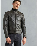 Prime Christmas Black Leather Jacket For Men - Get Custom Leather Jackets