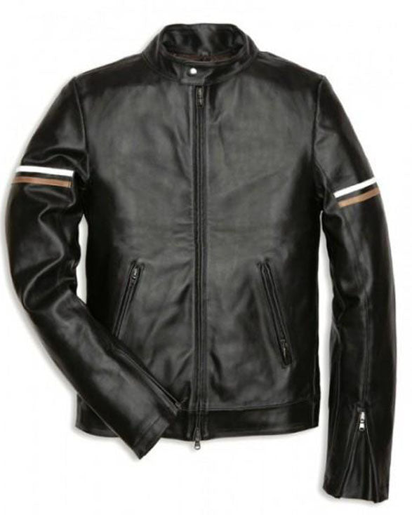 Super Slimfit Men Classic Black Leather Jackets - Get Custom Leather Jackets