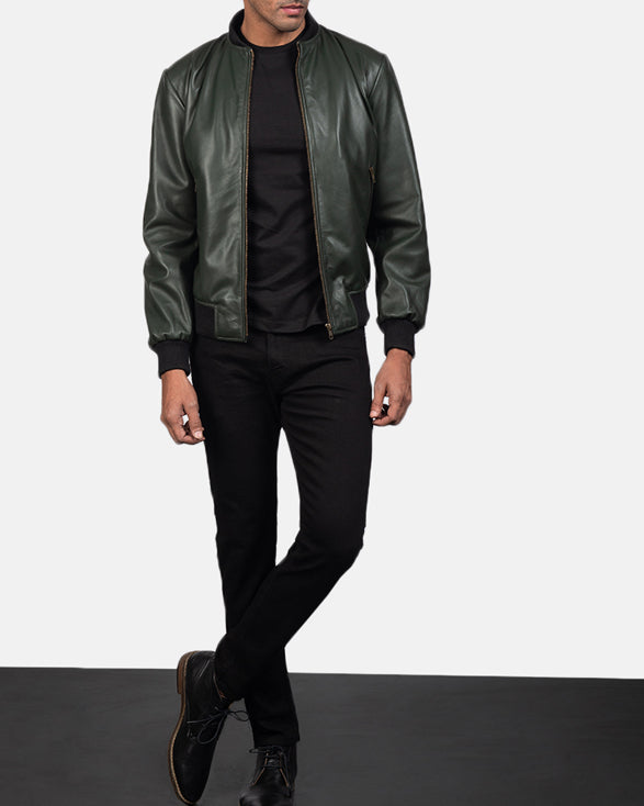 Shane Green Leather Bomber Jacket - Get Custom Leather Jackets