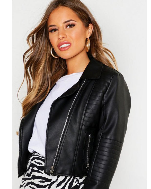 Faux Leather Biker Jacket - Get Custom Leather Jackets