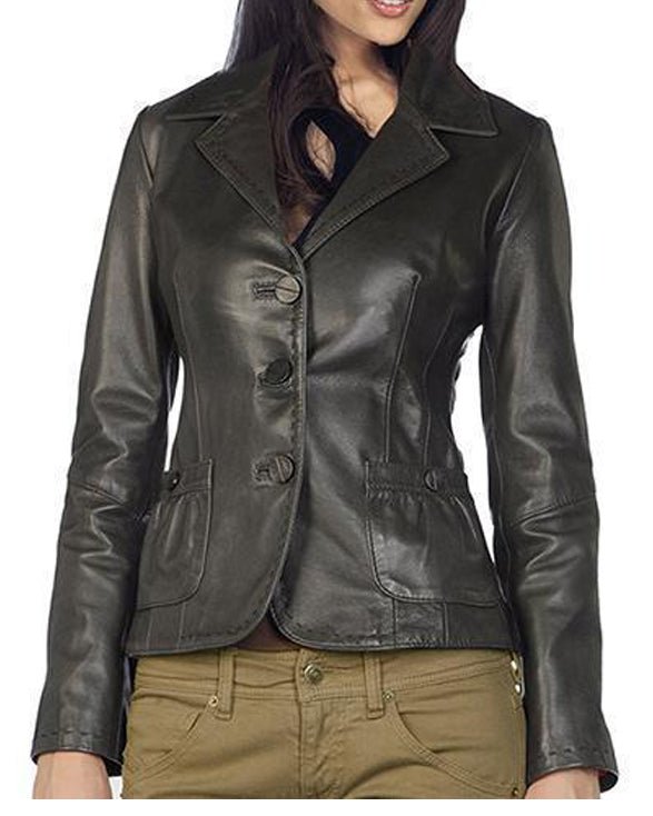 Super Slimy Women Black Leather Coats - Get Custom Leather Jackets