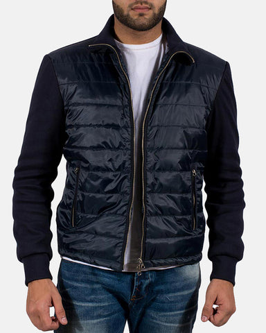 Alps Quilted Windbreaker Jacket - Get Custom Leather Jackets
