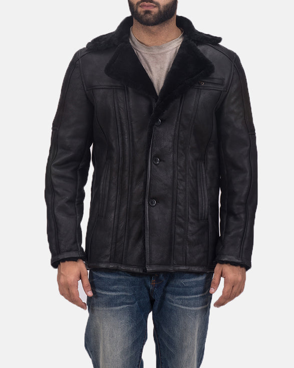 Furcliff Double Face Shearling Leather Coat - Get Custom Leather Jackets