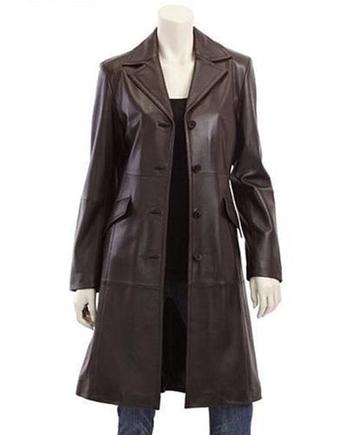 uper Merronish Women Brown Leather Coats - Get Custom Leather Jackets