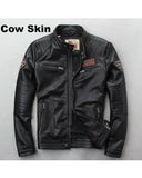 Men's 100% Genuine Leather Biker Jacket - Get Custom Leather Jackets