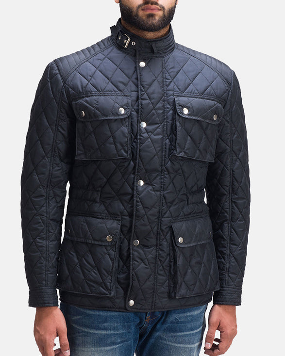Nelson Quilted Windbreaker Jacket - Get Custom Leather Jackets
