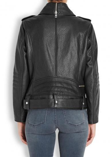 Super Bisha Women Biker Black Leather Jackets - Get Custom Leather Jackets