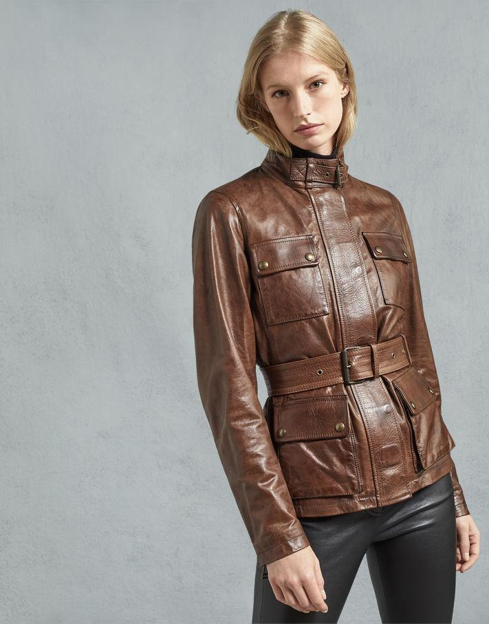 Triumph Women Leather Jacket - Cognac - Get Custom Leather Jackets
