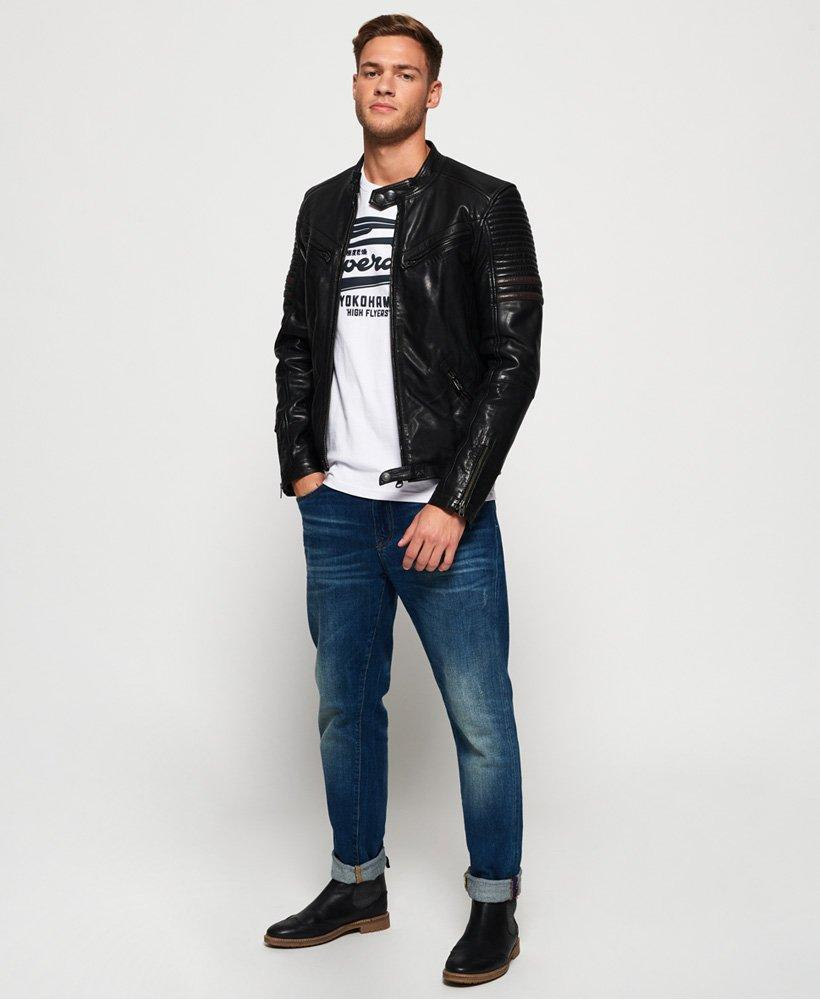 Prime Endurance Black Circuit Leather Jacket for Men - Get Custom Leather Jackets