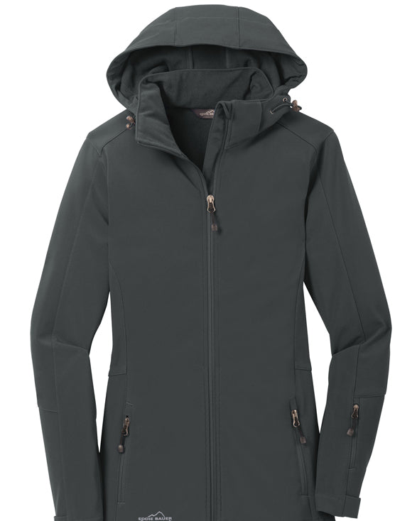 Eddie Bauer Ladies Hooded Soft Shell Parka - Get Custom Leather Jackets