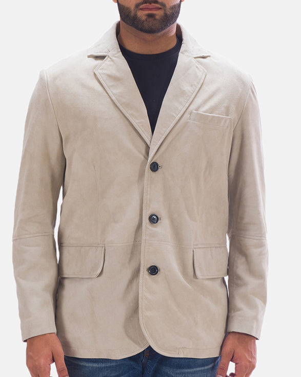 Professor By Day Suede Blazer - Get Custom Leather Jackets