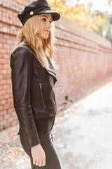 Sienna Black Lambskin Leather Jacket for Women - Get Custom Leather Jackets