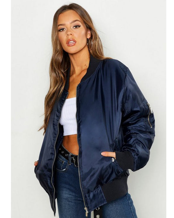 Oversized MA1 Bomber Jacket - Get Custom Leather Jackets