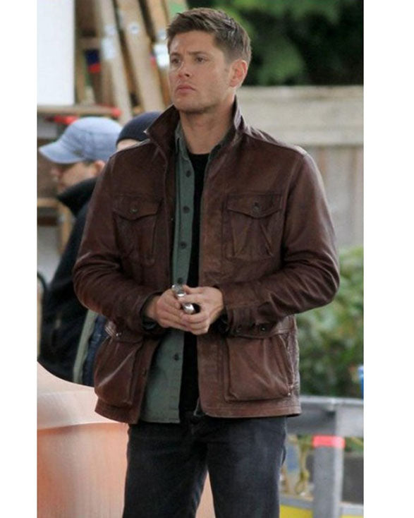 Supernatural Season 7 Brown Distressed Jacket - Get Custom Leather Jackets