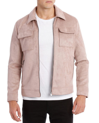 Dali Coach pink leather Jacket - Get Custom Leather Jackets