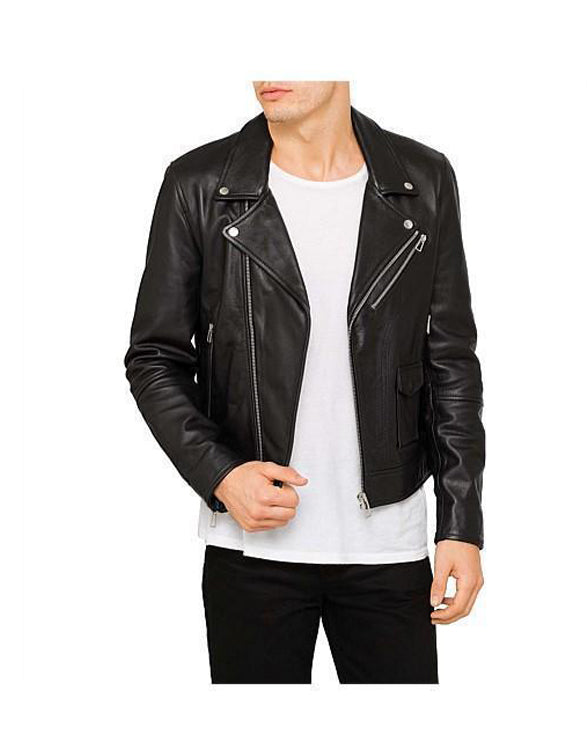 Zip Biker leather Jacket for Men - Get Custom Leather Jackets