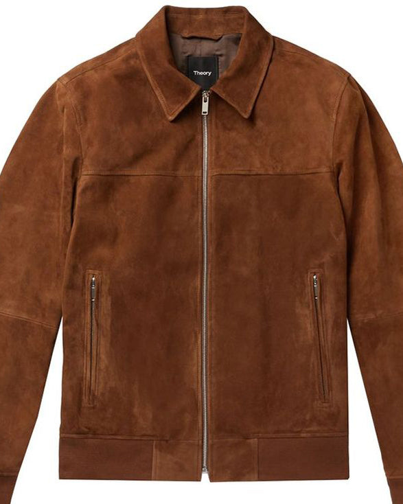 Theory Noland Suede Jacket - Get Custom Leather Jackets