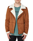White and Golden Rivington Jacket for men - Get Custom Leather Jackets