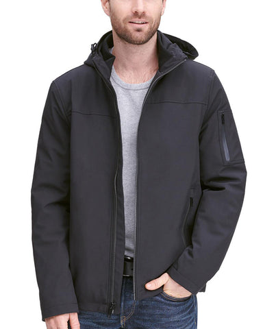 Stretch Hooded Zip Front Jacket - Get Custom Leather Jackets
