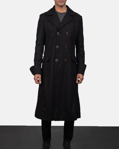Detective Wool Peacoat - Get Custom Leather Jackets