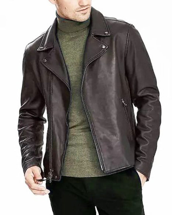 Classic Black Leather Biker Jacket - Get Custom Leather Jackets