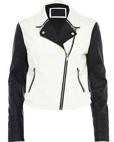 Super White Women Classic Leather Jackets - Get Custom Leather Jackets