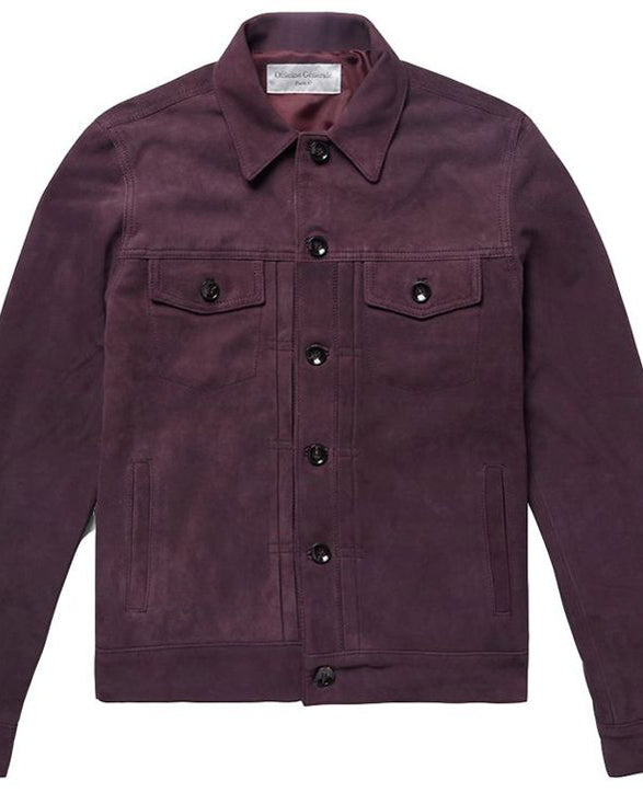 Officine Generale  Liam Suede Trucker Jacket - Get Custom Leather Jackets