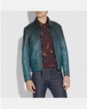 Deep Turquoise Stinger Leather jacket for Men - Get Custom Leather Jackets