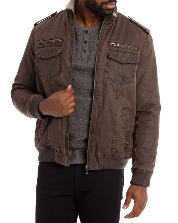 Sherpa Dyeback Jacket - Get Custom Leather Jackets