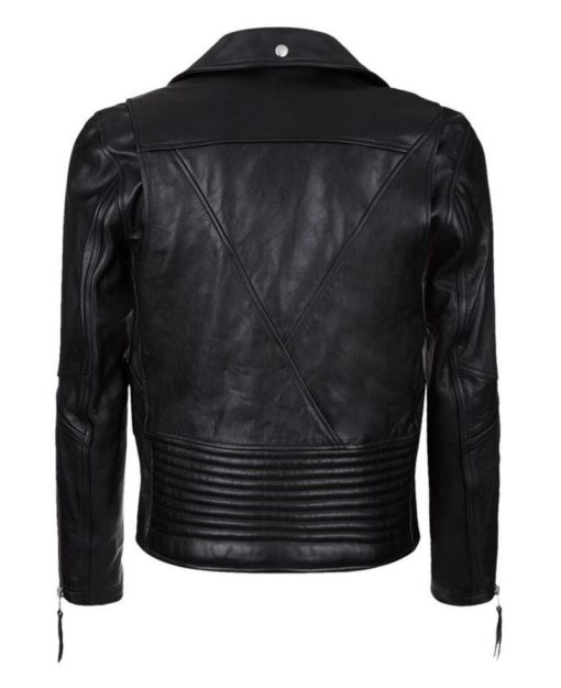 Clint Black Leather Biker Jacket - Get Custom Leather Jackets