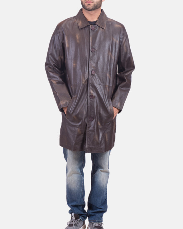 Classmith Brown Leather Coat - Get Custom Leather Jackets