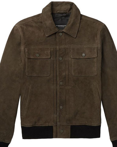 Club Monaco Suede Trucker Jacket - Get Custom Leather Jackets