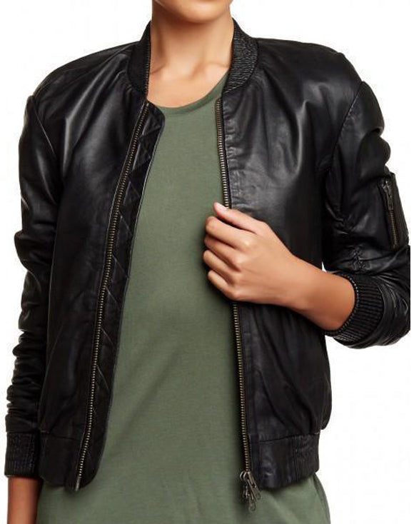 Super Timmy Women Bomber Leather Jackets - Get Custom Leather Jackets