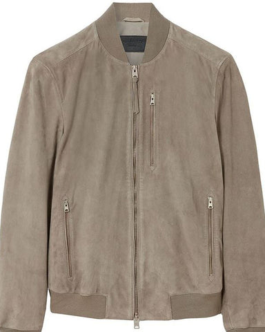 Allsaints Kemble Suede Bomber Jacket - Get Custom Leather Jackets
