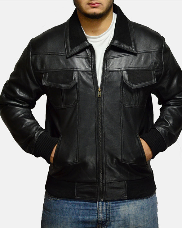Jake Hall Black Leather Jacket - Get Custom Leather Jackets