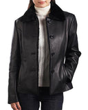 Super Beige Women Black Leather Coats - Get Custom Leather Jackets