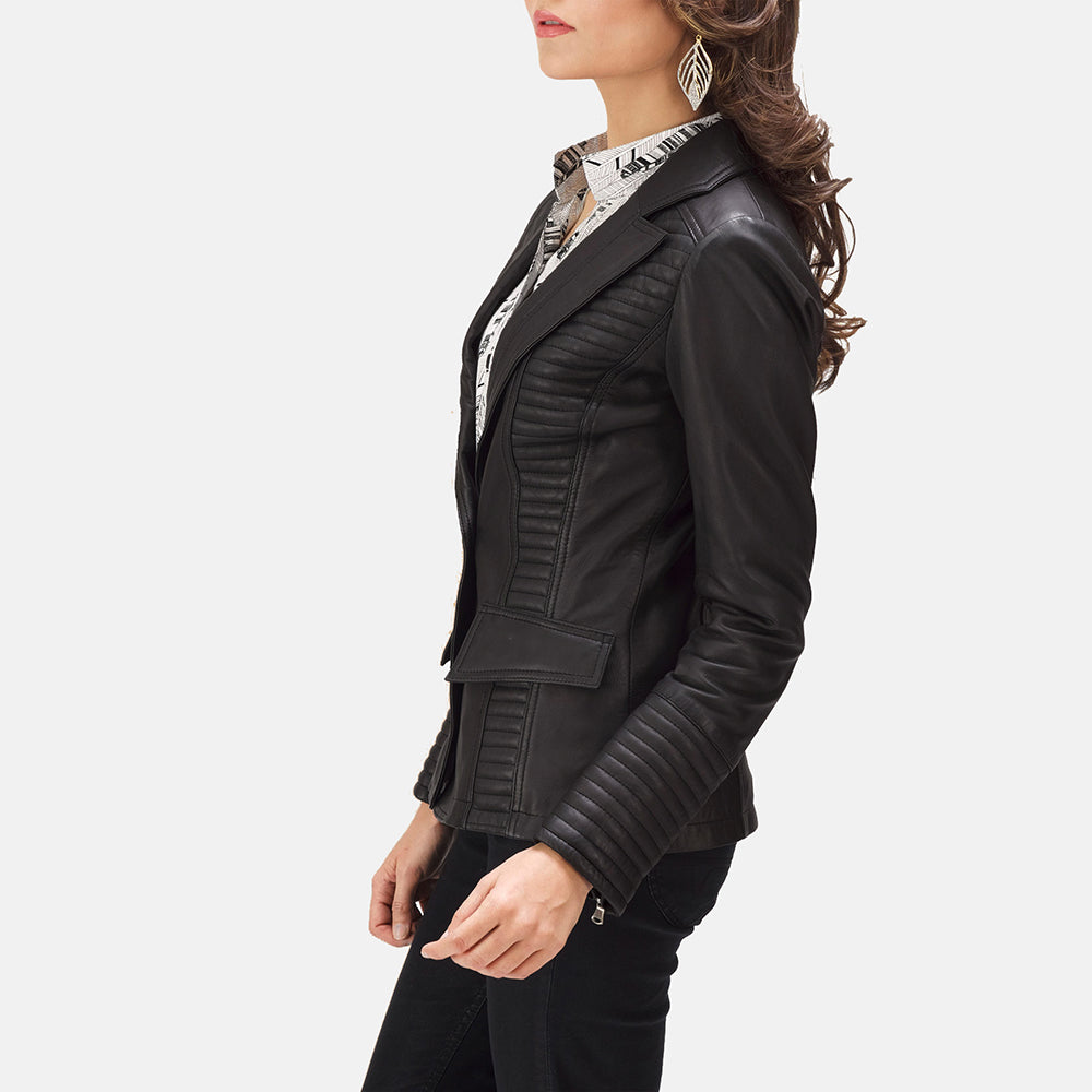 Lee Tan Brown Leather Blazer - Get Custom Leather Jackets