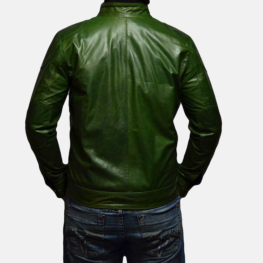 Krypton Green Leather Jacket - Get Custom Leather Jackets