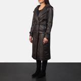 Fixon Hooded Brown Trench Coat - Get Custom Leather Jackets