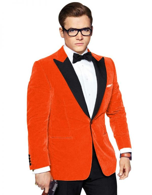 Kingsman Orange Tuexdo - Get Custom Leather Jackets