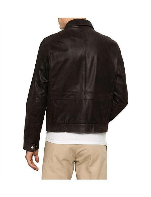 LEATHER ZIP COLLAR PILOT JACKET for Men - Get Custom Leather Jackets