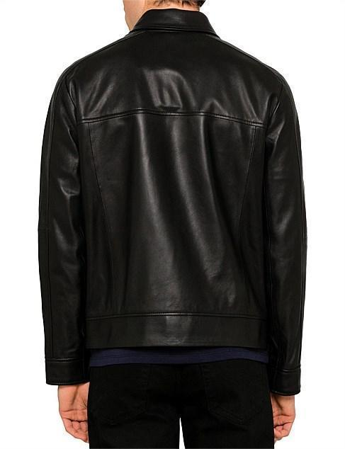 Leather  Zip Taxi Jacket for Men - Get Custom Leather Jackets