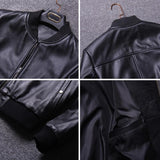 Men Classic Bomber Real Cowskin Leather Jacket - Get Custom Leather Jackets
